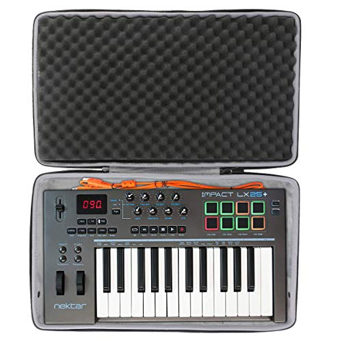 co2crea Hard Travel Case for Nektar Impact LX25+ Premium Midi Controller
