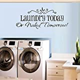 """Best Decals Bathroom Laundries - BIBITIME 22.83"""" x 9.44"""" Laundry Today or Naked Review"""