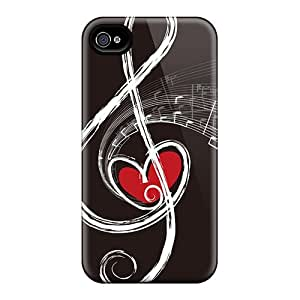 Eriores Case Cover Protector Specially Made For Iphone 4/4s Note Of Love