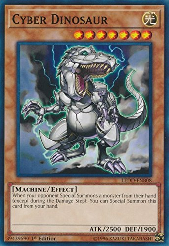 Yugioh 1st Ed Cyber Dinosaur LEDD-ENB08 Common 1st Edition Legendary Dragon Decks