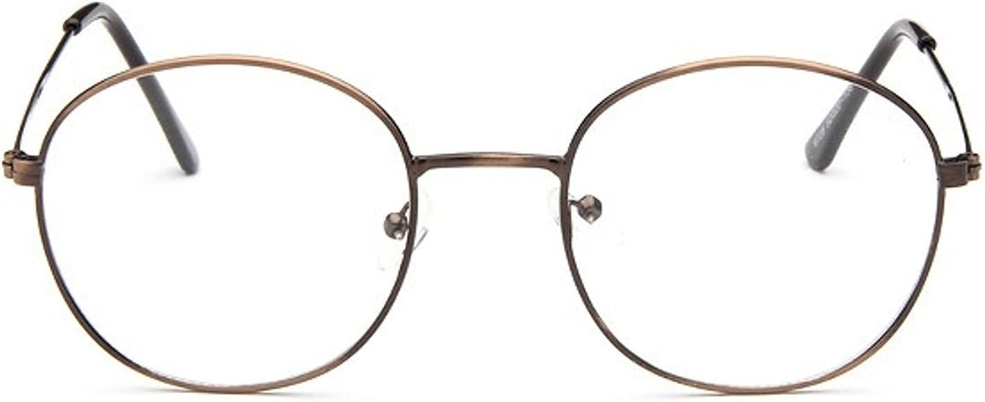 Unisex SLD9728 Classic Metal Thin Frame Rim Round Eyeglasses Small Size
