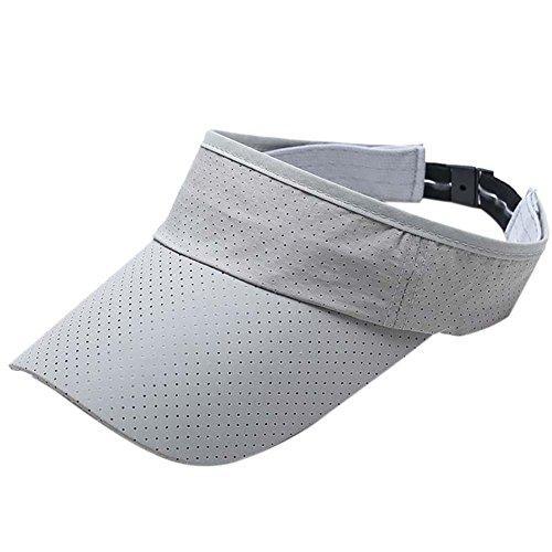 Bornbayb Men's Quick Dry Sport Sun Visor Athletic Mesh Visor Cap Sun Protector with Adjustable - Athletic Visor Mesh