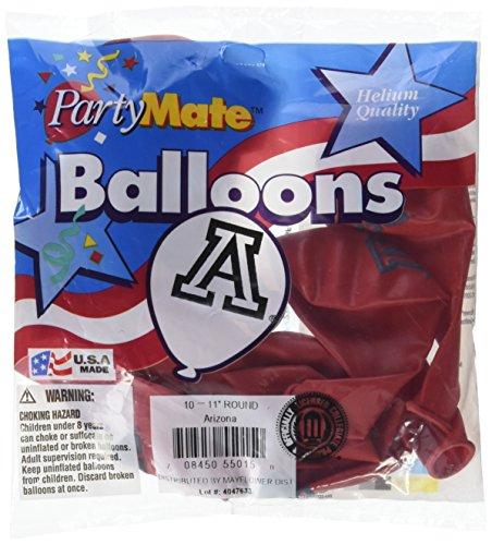 Pioneer Balloon Company 10 Count University of Arizona Latex Balloon, 11, Multicolor