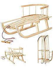 I.M.P. Slee van hout voor kinderen met rugleuning + slee.