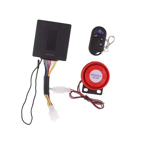 perfk Sistema de Alarma de Motocicleta Antirrobo ...