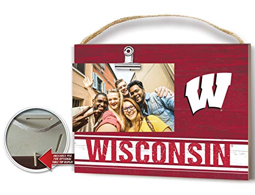 (KH Sports Fan Clip It Colored Logo Photo Frame Wisconsin Badgers)