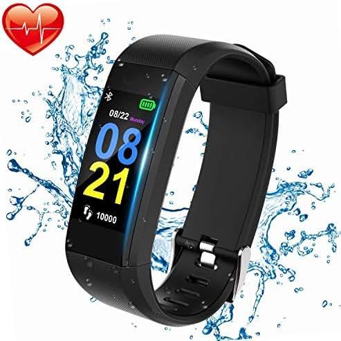 Color Screen Fitness Tracker,Intelligent Sleep Monitor Can Monitor Blood Pressure Heart Rate Blood Oxygen Waterproof Bluetooth Sports Bracelet,Children Women Men Available Belt Pedometer Sports Watch