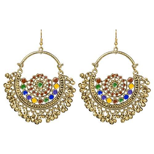 Bodha Antique Gold Boho Style Gypsy Earrings - Gold 875