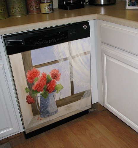 Country Floral Dishwasher Cover Panel