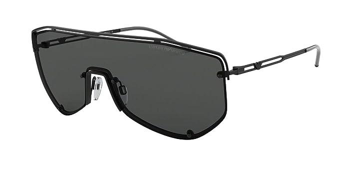 Emporio Armani 0EA2072, Gafas de Sol para Hombre, Matte Black, 45