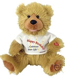 "Chantilly Lane 12"" Noah Bear ""Happy Birthday"""