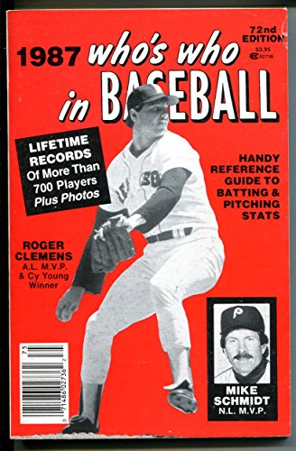 Who's Who In Baseball-1987-Roger Clemens-Mike Schmidt- (Mike Schmidt Stats)