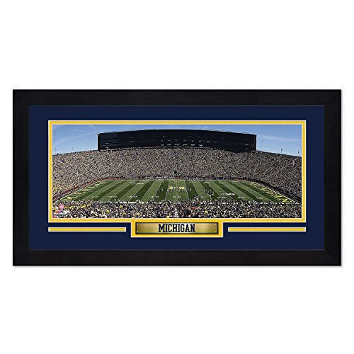 Photo File Michigan Wolverines Print 13x7 Framed Stadium Design