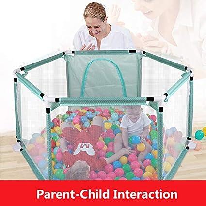 Zona de juegos para ni/ños con parque infantil juegos en interiores y exteriores centro de juegos port/átil con estuche y malla transpirable para beb/és reci/én nacidos Bolas no incluidas cerca