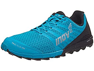 Inov8 Men's Trailtalon 250 Trail Running Shoes Blue / Black M10 & Visor Bundle