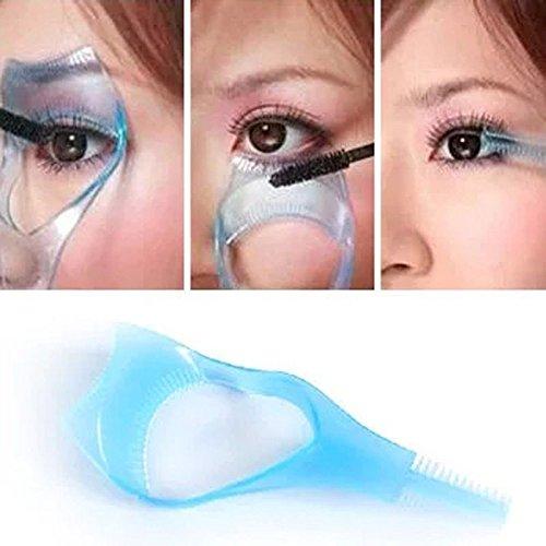 LCsndice 3 in 1 mascara applicatore guida strumento ciglio pettine trucco plastica bigodino bellezza