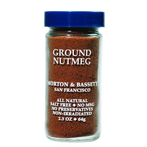 MORTON & BASSETT NUTMEG GROUND, 2.3 OZ