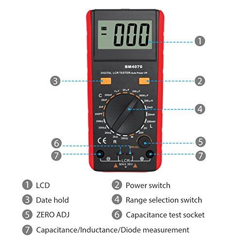 Digital multimeter Resistance Capacitance Inductance LCR Multimeter tester with LCD backlight transistor hFE display 1-1999 UA6243L