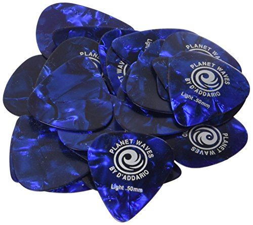 Planet Waves Blue Pearl Celluloid Guitar Picks, 25 pack, ()