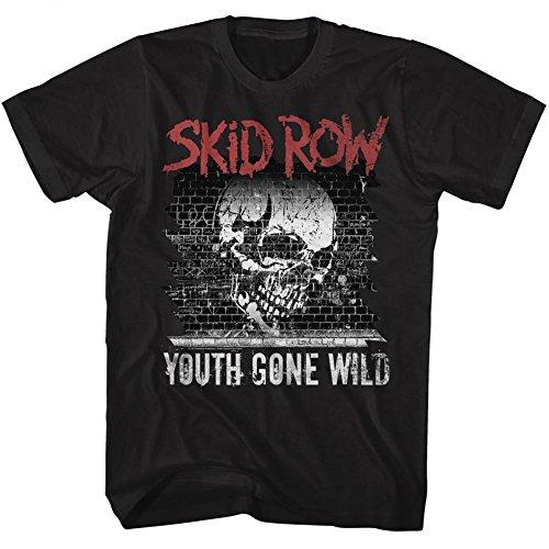 American Classics Skid Row Heavy Metal Band Graffiti Gone Wild Black Adult T-Shirt Tee ()