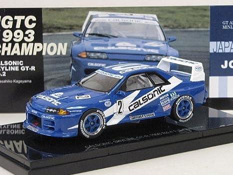 Amazon.com: EBBRO 1/43 CALSONIC SKYLINE GT-R 1993 Rd.4 Fuji Champion Masami Kageyama: Toys & Games