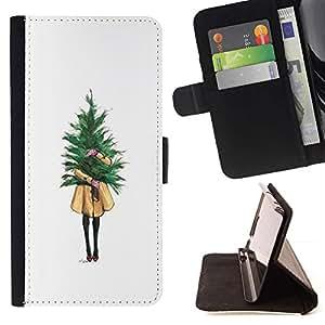 Momo Phone Case / Flip Funda de Cuero Case Cover - Chica Significado minimalista Navidad - Samsung Galaxy Core Prime