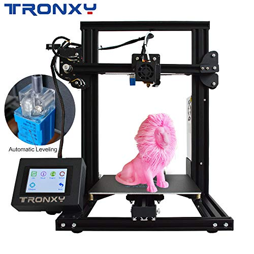 TRONXY XY-2 3D Printer Semi-Assembled with Automatic Leveling Filament Sensor and Power Resume All Metal Frame Adjustable by Eccentric Nuts 220X220X260 (XY-2-auto ()