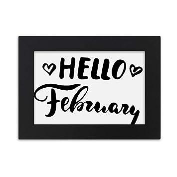 Amazon com - DIYthinker Hello February Quote Handwrite
