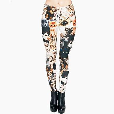 Pantalones De Yoga Moda Formas Chic Animal Ropa Gatos Impresión Completa 3D Punk Mujeres Legging Slim Fit Pantalones Pantalones Casual Leggings (Color : Cats, Size : One Size): Amazon.es: Ropa y accesorios