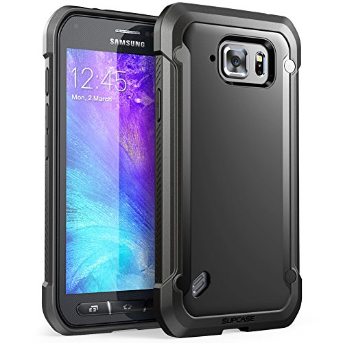 Galaxy S6 Active Case, SUPCASE Unicorn Beetle Series Premium Hybrid Protective Clear Case for Samsung Galaxy S6 ActiveWill Not Fit Galaxy S6, Retail Package (Black/Black)