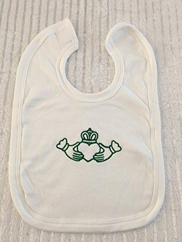 (Claddagh Baby, Custom Baby Bib, Personalized Baby Gift, Baby Shower Gift, Irish Baby Shower)