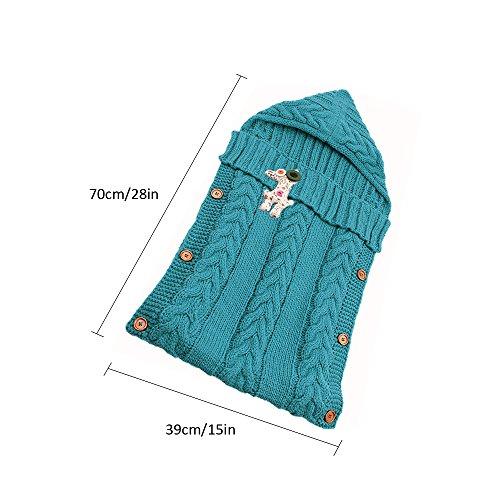 Manta de bebé recién Nacido para bebé de 0-12 Meses (Azul Verdoso): Amazon.es: Ropa y accesorios