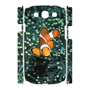 3D [In the Water] Clownfish Closeup Case for Samsung Galaxy S3 {White}