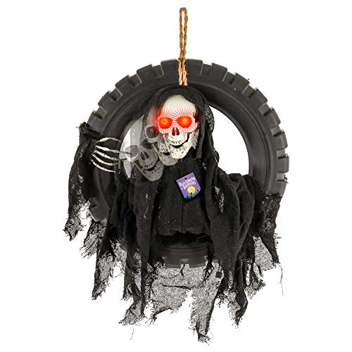Talking Skull Halloween - Halloween Haunters Animated Hanging Talking Moving