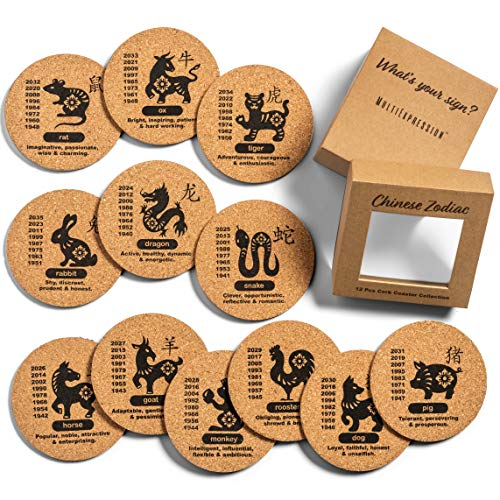 MultiExpression 12 Pcs Cork Coaster Set - Fun, 4