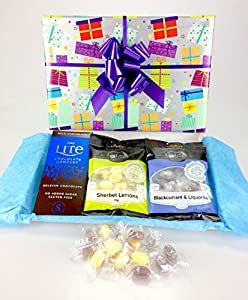 Happy sugar free christmas gift wrapped chocolate sweet hamper happy sugar free christmas gift wrapped chocolate sweet hamper box personalise negle Images