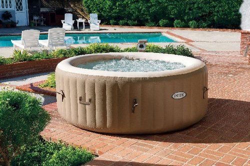 Amazon.com : Intex Pure Spa 4 Person Inflatable Portable Hot Tub With 6  Filter Cartridges : Patio, Lawn U0026 Garden