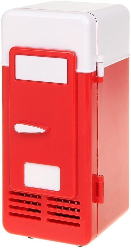ThreeH Mini refrigerador del USB Refrigerador Bebidas Latas ...