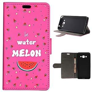 BeCool - Funda carcasa tipo [ Libro ] Samsung Galaxy Grand Prime [ Función Soporte ] Be Water Melon Rosa