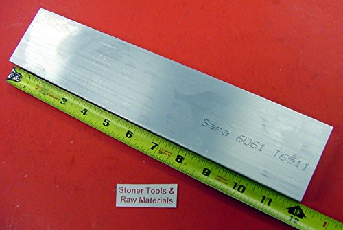 1-1/4″ X 2″ ALUMINUM 6061 FLAT BAR 12″ long T6511 1.250″ Solid New Mill Stock
