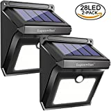 28 LED Outdoor Solar Lights, Luposwiten Motion Sensor Security Lights Solar Powered Panel Waterproof Outside Lights for Garden, Wall, Patio, Stairs, Fence, Yard, Driveway, Pathway Wireless Solar Wall Lamp[2 Pack]