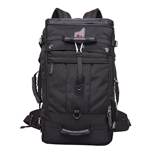 KAKA 50L Large Travel Backpack Latop Bag Shoulder Bags Outdoor Sports Camping Bag For 17 Inch Laptop(Black) by Sunwin
