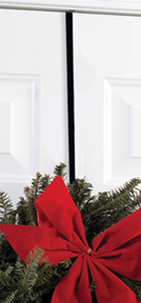 Iron Christmas Holiday Wreath Hanger - Winter Holiday Door Hook by Iron Works