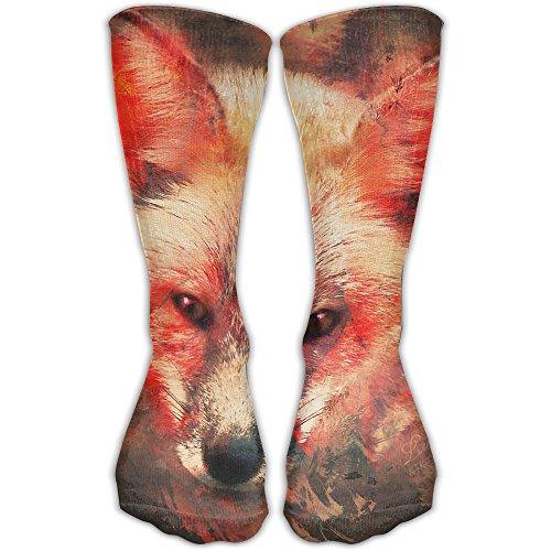 ocks Animal Red Splash Of Fox Athletic Stockings 30cm Long Sock One Size ()