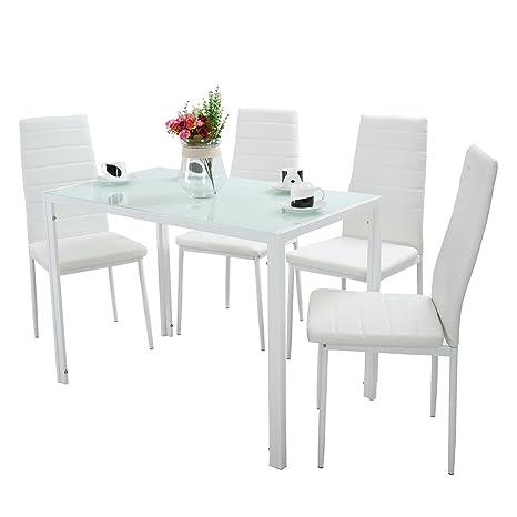 Set di sedie da pranzo tavolo da cucina, set di tavolo da ...