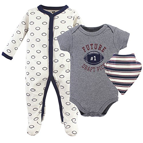 Hudson Baby Baby Multi Piece Clothing Set, Football 3, 6-9 Months (9M)