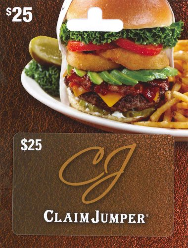 - Claim Jumper Gift Card $25