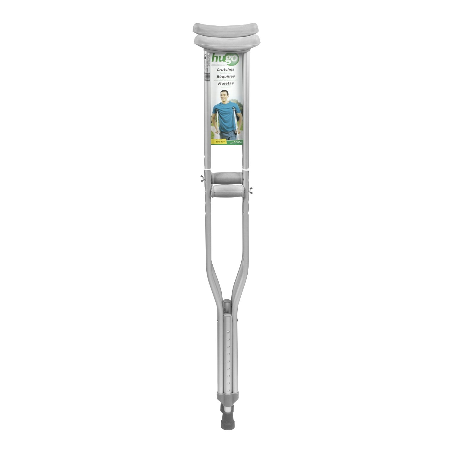 Hugo Mobility 721-780 Hugo Lightweight Adjustable Aluminum Crutches, Tall Adult by Hugo Mobility