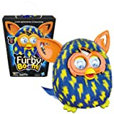 furby blue - Hasbro Year 2013 Furby Boom Series 5 Inch Tall Electronic App Plush Toy Figure - Blue and Yellow Lightning Bolts Pattern FURBY