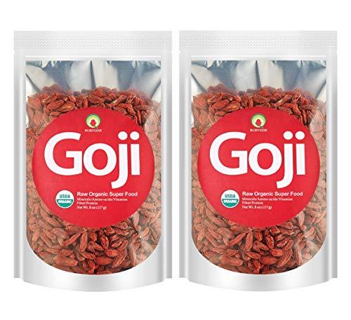 Rubygoji Organic Goji Berries,USDA Certified Wolfberry,Lymcium Barbarum,Ningxia Farm Direct Supply,1lb